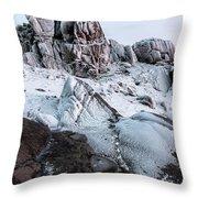 The Frozen Peak Of Bearnagh Throw Pillow