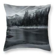 The Frozen Pond Throw Pillow
