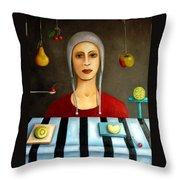 The Fruit Collector Throw Pillow by Leah Saulnier The Painting Maniac