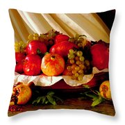 The Fruits Of Caravaggio Throw Pillow