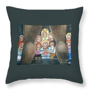 The Full Monty Throw Pillow