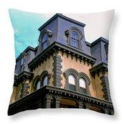 The Fulton Mansion Throw Pillow