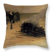 The Funeral Of Shelley Throw Pillow