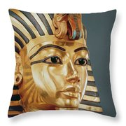 The Funerary Mask Of Tutankhamun Throw Pillow