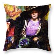 The Furs 1911 Throw Pillow