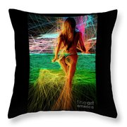 The Future Is Ahead Throw Pillow