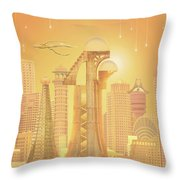 The Future Is Golden Throw Pillow
