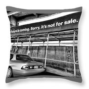 The Future Is Not For Sale Throw Pillow