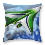 The Future Of Air Transportation Throw Pillow