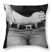 The G M Belt Throw Pillow