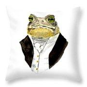 The Gentleman Throw Pillow