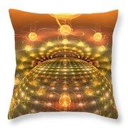 The Galactic Mirror Ball Throw Pillow