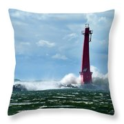 The Gale Of October Throw Pillow