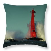 The Gale Of October II Throw Pillow