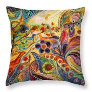 The Galilee Village Throw Pillow