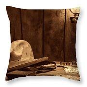The Gambler Hat Throw Pillow