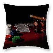 The Gambler Throw Pillow