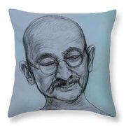The Gandhi Head Throw Pillow