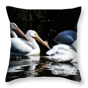 The Gangs All Here Throw Pillow
