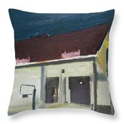 The Bank Throw Pillow