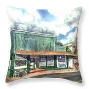 The Garcia Building Throw Pillow
