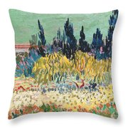 The Garden At Arles  Throw Pillow by Vincent Van Gogh