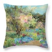 The Garden At Kilmurry Throw Pillow