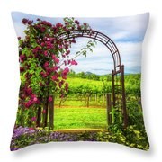 The Garden At The Winery Throw Pillow
