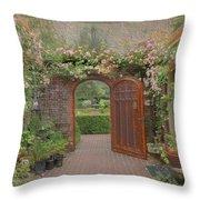 The Garden Door Throw Pillow