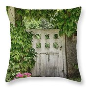 The Garden Door - V Throw Pillow