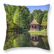 The Garden Gazebo Throw Pillow