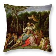 The Garden Of Armida Throw Pillow