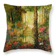 The Garden Of Enchantment Throw Pillow