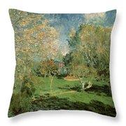 The Garden Of Hoschede Family Throw Pillow