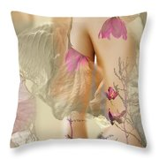 The Garden Of Light Throw Pillow