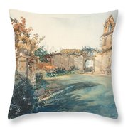 The Garden Of San Miniato Near Florence Throw Pillow