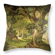 The Garden Of The Magician Klingsor, From The Parzival Cycle, Great Music Room Throw Pillow