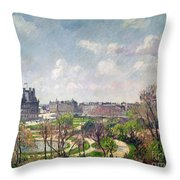 The Garden Of The Tuileries Throw Pillow