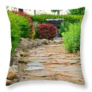 The Garden Path Throw Pillow