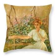 The Garden Seat 1911 Throw Pillow