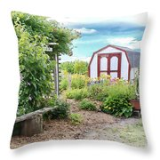 The Garden Shed Throw Pillow