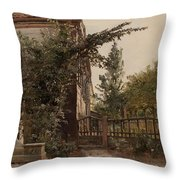 The Garden Steps Throw Pillow