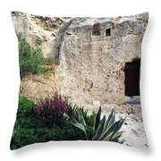 The Garden Tomb Throw Pillow