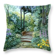 The Garden Triptych Right Side Throw Pillow