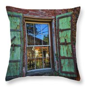 The Garden Window Throw Pillow