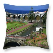 The Gardens Of Ribeira Grande Throw Pillow