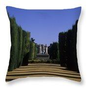 The Gardens Of The Alcazar Of Catholic Throw Pillow