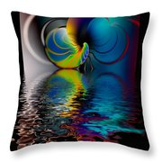 The Gate Across The Water Throw Pillow