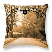 The Gate At Widener University Throw Pillow