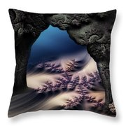 The Gate In The Grotto Throw Pillow